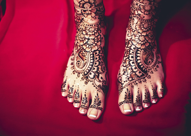 Shringar (Mehendi Feet Closeup)