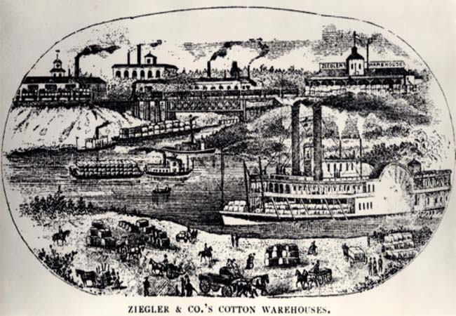 A rendering of what Houston imagined itself to be in 1846.