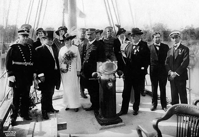 Official opening ceremony for the Port of Houston. November 1914.